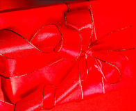 Red parcel Stock Images