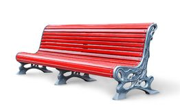 Free Red Park Bench Stock Photo - 110941870