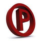 Red parking sign Royalty Free Stock Photo
