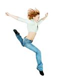 Red parkour girl Royalty Free Stock Photography