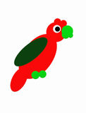 Red parrot from round shapes. A red parrot made from oval and round shapes Stock Images