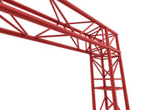 Red part of stage construction Royalty Free Stock Image