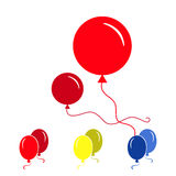 Red Party Balloon Icons Isolated On White Background. Red Simple Party Balloon Icons Isolated On White Background Royalty Free Stock Images