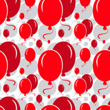 Red Party Balloon Pattern on White Background Stock Images