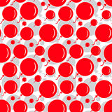 Red Party Balloon Pattern on White Background Royalty Free Stock Photos