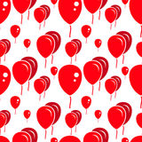 Red Party Balloon Pattern on White Background Royalty Free Stock Photo