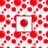 Red Party Balloon Pattern on White Background Royalty Free Stock Photography