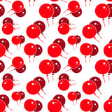 Red Party Balloon Pattern on White Background Royalty Free Stock Images