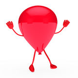 Red party balloon wave Stock Images