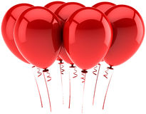 Red party balloons Royalty Free Stock Photos