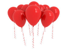 Red party balloons bunch Royalty Free Stock Photo