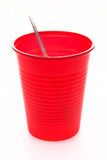 Red party cup royalty free stock photo