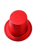 Red party hat isolated on white clipping path. Royalty Free Stock Image