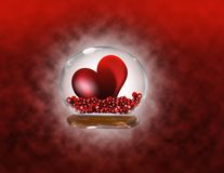 Red passion. Red hearts on a background Stock Photos