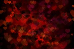 Red passion hearts background. Elegant bokeh effect Royalty Free Stock Image