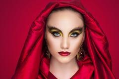 Woman bright make up Stock Image