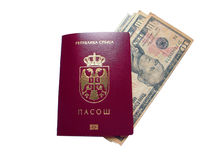 Red passport Stock Image