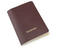 red passport with copy space Stock Image