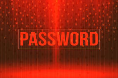 Red password background security concept Stock Photos