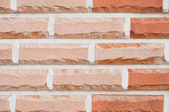 Red pastel brick wall Royalty Free Stock Images