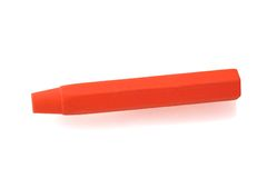 Red pastel crayon Stock Photos