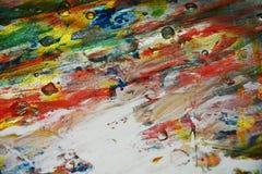 Red pastel green vivid paint background paint watercolor spots Stock Photos