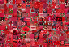 RED patchwork photomontage background Stock Photography