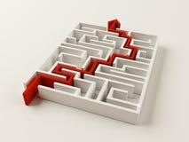 Solved Maze puzzle Stock Photos