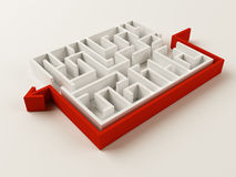 Solved Maze puzzle Royalty Free Stock Photography