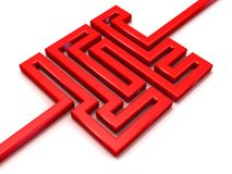 Red path labyrinth Stock Images