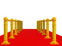 Red path with row column Royalty Free Stock Photo
