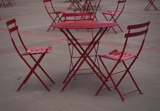Red Patio Chairs And Table Stock Images