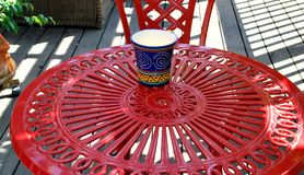 Red patio furniture abstract. Royalty Free Stock Photos