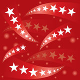 Red patriotic stars banner Royalty Free Stock Photos
