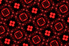 Red pattern. Abstract red pattern on the black background Royalty Free Stock Photos