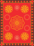 Red pattern. Abstract background of color and light. Carpet or cloth for a celebratory table Royalty Free Stock Photography