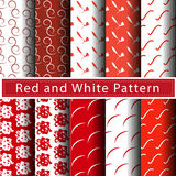 Red pattern abstract background vector. Red and white line pattern abstract background vector Stock Images
