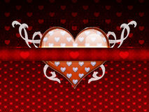 Red pattern with big heart Royalty Free Stock Images