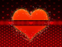 Red pattern with big heart Royalty Free Stock Image