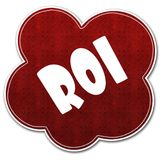 Red pattern cloud with ROI text written on it. Red pattern cloud with ROI text written on it illustration Royalty Free Stock Photo