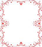 Red pattern frame Royalty Free Stock Images