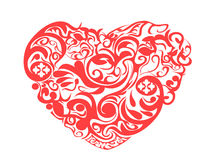 Red pattern heart Stock Photos