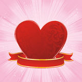 Red pattern heart Royalty Free Stock Photography