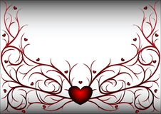 Red pattern with hearts 2 Royalty Free Stock Photos