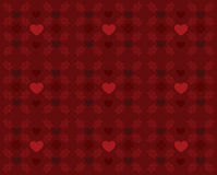 Red pattern with hearts Royalty Free Stock Photography