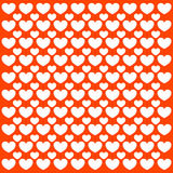 Red pattern with hearts Royalty Free Stock Photos