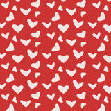 Red pattern with hearts. Vector illustration Royalty Free Stock Photos