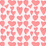 Red pattern with hearts. Vector illustration Royalty Free Stock Images