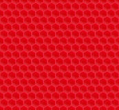 Red Pattern Hexagon Mosaic Stock Photo