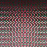 Red pattern with hexagons Royalty Free Stock Image